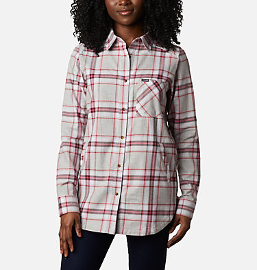 Women's Sunday Summit™ Plaid Tunic Sunday Summit™ Plaid Tunic | 011 | L, Red Lily Plaid, front