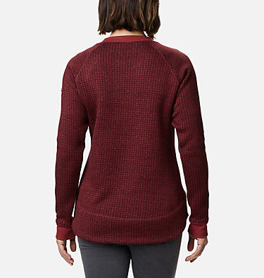 Women's Chillin™ Sweater Chillin™ Sweater | 191 | L, Marsala Red Houndstooth, back