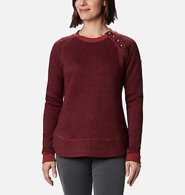 Women's Chillin™ Sweater Chillin™ Sweater | 191 | L, Marsala Red Houndstooth, front