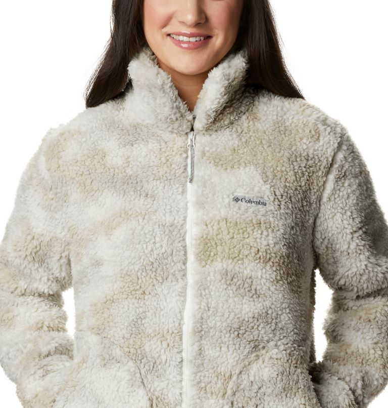 Winter Pass™ Sherpa FZ | 191 | S Women's Winter Pass™ Sherpa Full Zip Jacket, Chalk Camo, a2