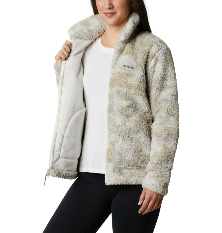 Winter Pass™ Sherpa FZ | 191 | S Women's Winter Pass™ Sherpa Full Zip Jacket, Chalk Camo, a3