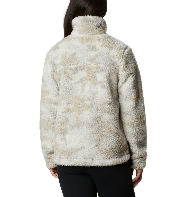 Winter Pass™ Sherpa FZ | 191 | S Women's Winter Pass™ Sherpa Full Zip Jacket, Chalk Camo, back