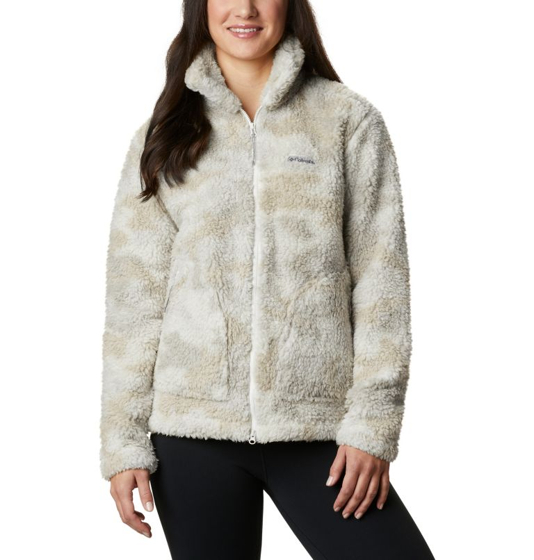 Winter Pass™ Sherpa FZ | 191 | S Women's Winter Pass™ Sherpa Full Zip Jacket, Chalk Camo, front