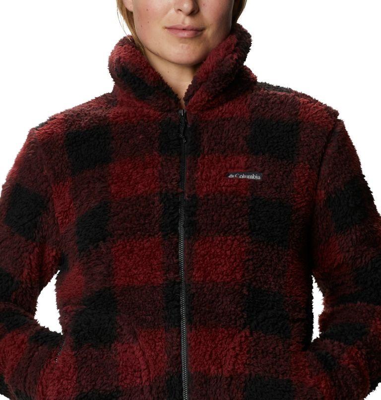 Winter Pass™ Sherpa FZ | 619 | XS Women's Winter Pass™ Sherpa Full Zip Jacket, Marsala Red Buffalo Check, a2