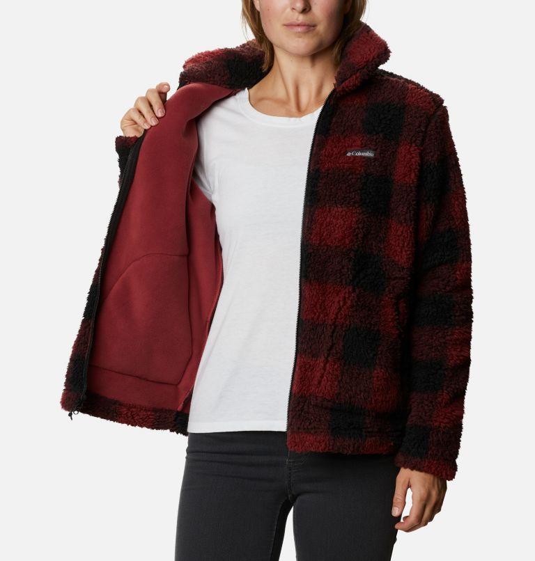 Winter Pass™ Sherpa FZ | 619 | XS Women's Winter Pass™ Sherpa Full Zip Jacket, Marsala Red Buffalo Check, a3