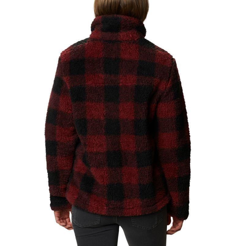 Winter Pass™ Sherpa FZ | 619 | XS Women's Winter Pass™ Sherpa Full Zip Jacket, Marsala Red Buffalo Check, back
