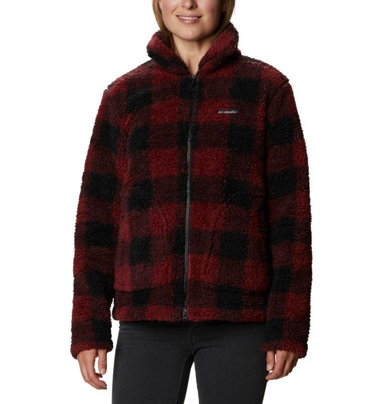 Winter Pass™ Sherpa FZ | 619 | XS Women's Winter Pass™ Sherpa Full Zip Jacket, Marsala Red Buffalo Check, front