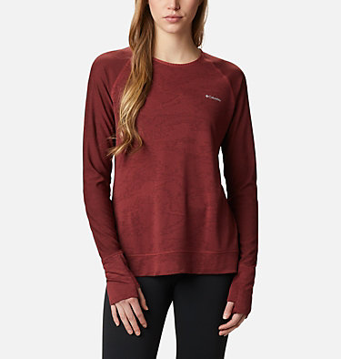 T-shirt à manches longues Adventura Hiking™ pour femme Adventura Hiking™ LS Tee | 010 | L, Marsala Red Tiger Mesh Camo, front