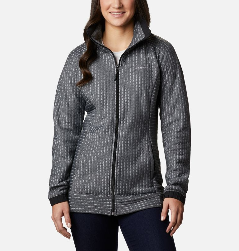 Saturday Trail™ Full Zip | 010 | M Women's Saturday Trail™ Full Zip Jacket, Black Heather, front