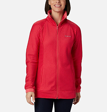 Women's Saturday Trail™ Full Zip Jacket Saturday Trail™ Full Zip | 673 | L, Bright Geranium Heather, front