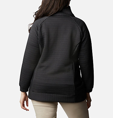 Manteau à fermeture éclair Saturday Trail™ pour femme - Grandes tailles Saturday Trail™ Full Zip | 673 | 2X, Black Heather, back