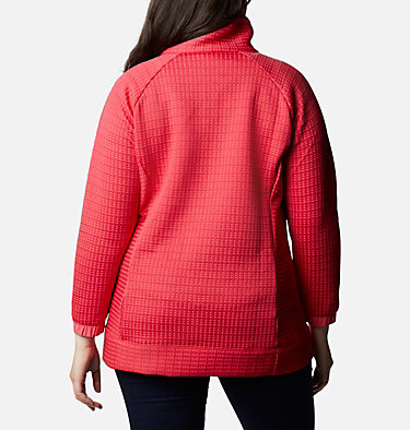 Women's Saturday Trail™ Full Zip Jacket - Plus Size Saturday Trail™ Full Zip | 673 | 2X, Bright Geranium Heather, back