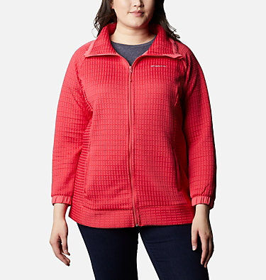 Manteau à fermeture éclair Saturday Trail™ pour femme - Grandes tailles Saturday Trail™ Full Zip | 673 | 2X, Bright Geranium Heather, front