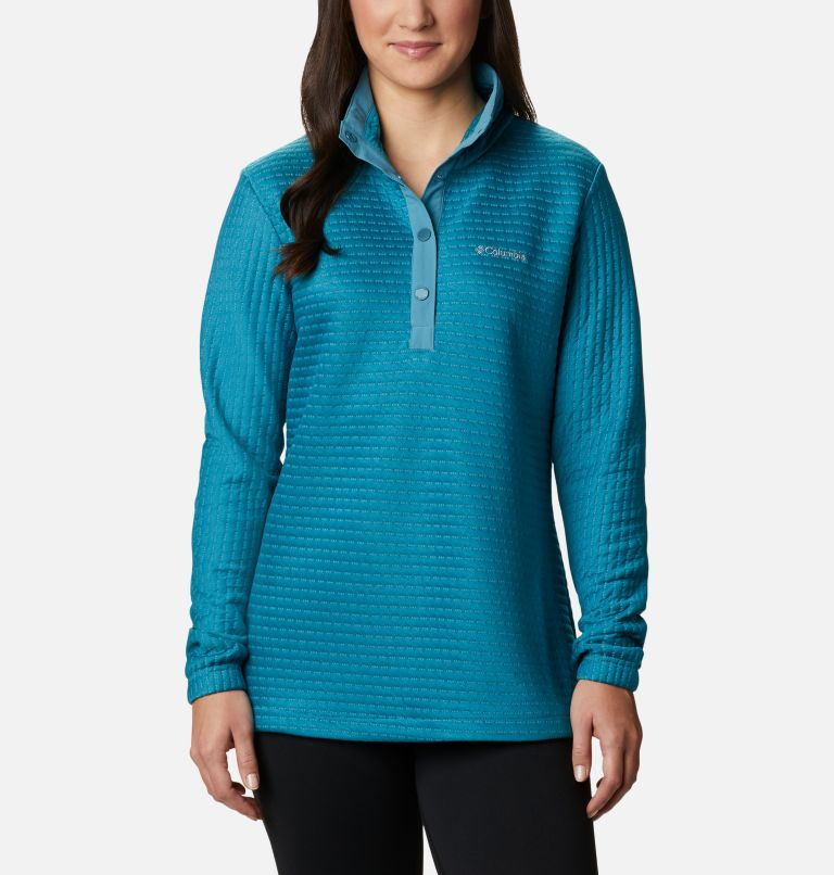 Saturday Trail™ Pullover | 430 | XL Women's Saturday Trail™ Pullover, Canyon Blue Heather, front