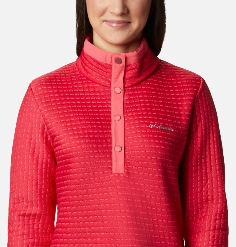 Saturday Trail™ Pullover | 673 | XS Women's Saturday Trail™ Pullover, Bright Geranium Heather, a2