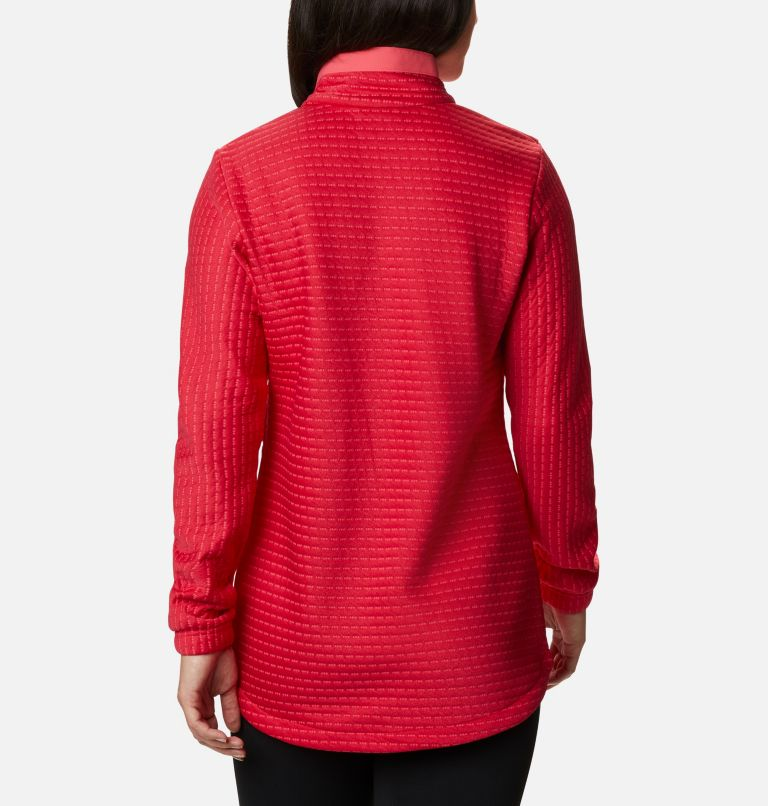 Saturday Trail™ Pullover | 673 | XS Women's Saturday Trail™ Pullover, Bright Geranium Heather, back