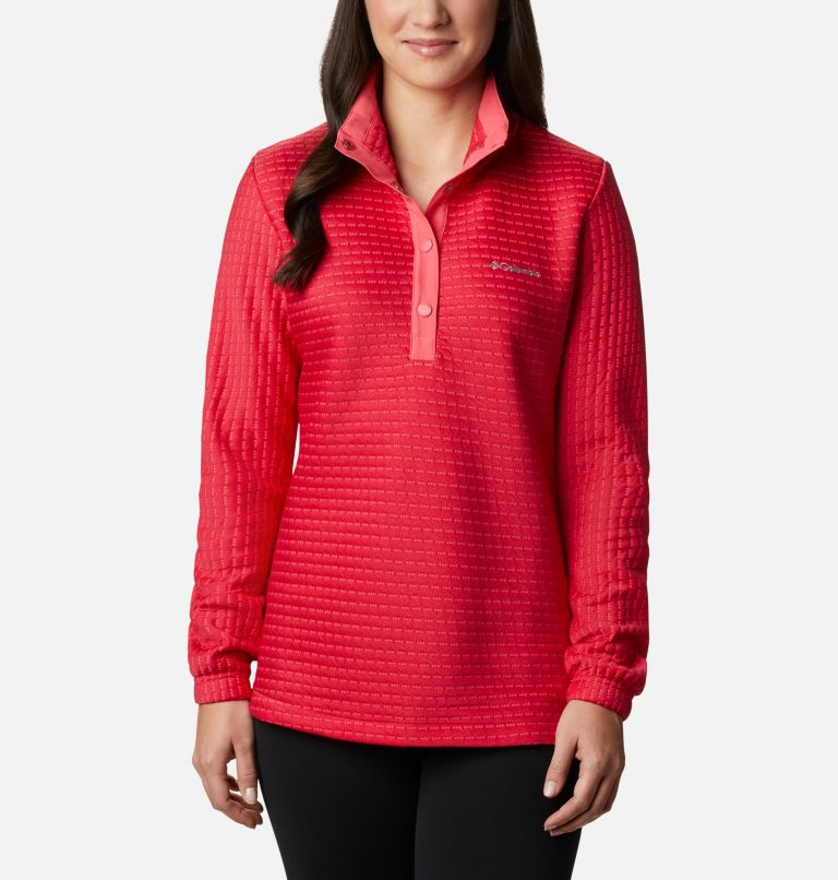 Saturday Trail™ Pullover | 673 | XS Women's Saturday Trail™ Pullover, Bright Geranium Heather, front