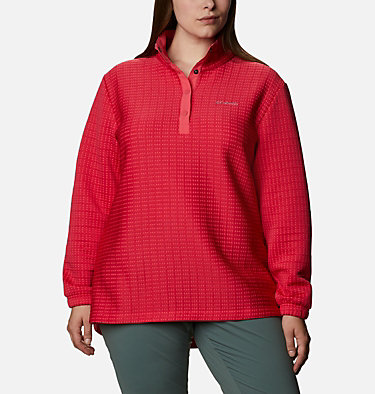 Chandail Saturday Trail™ pour femme – Grandes tailles Saturday Trail™ Pullover | 673 | 2X, Bright Geranium Heather, front