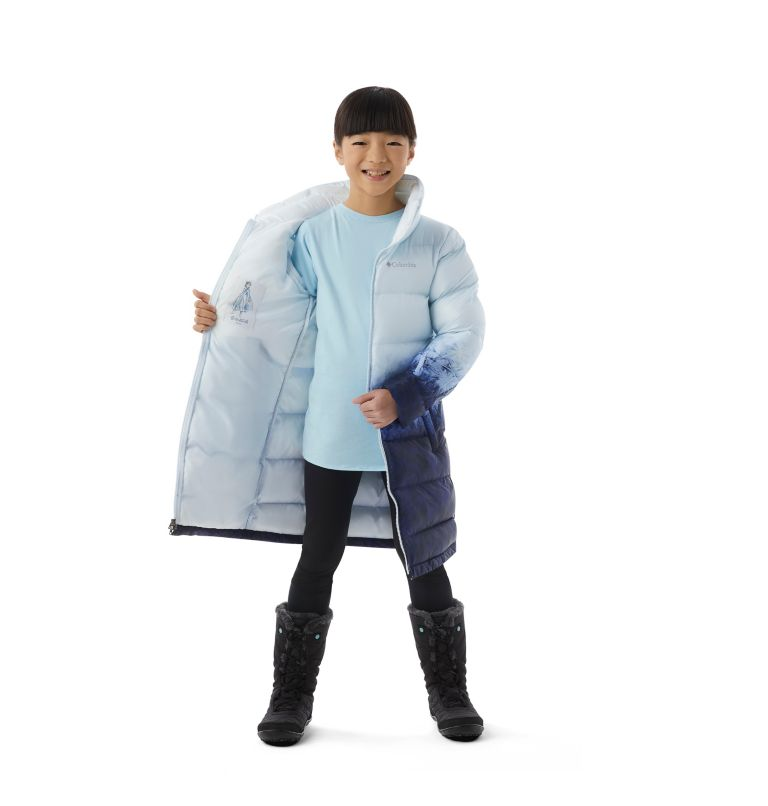 Girls' Disney Elsa Long Puffer Jacket Girls' Disney Elsa Long Puffer Jacket, a1