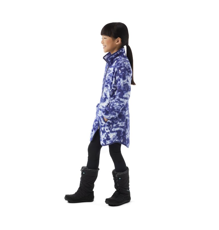 Girls' Disney Elsa Full Zip Fleece Jacket Girls' Disney Elsa Full Zip Fleece Jacket, 3/4 front