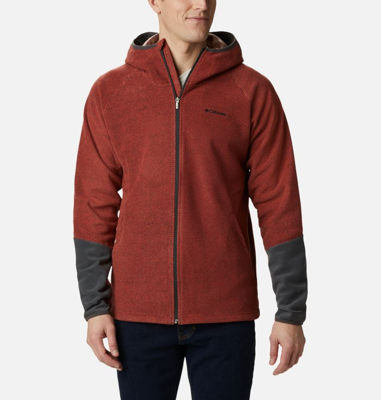 Tough Hiker™ II Hooded Fleece | 844 | M Men's Tough Hiker™ II Hooded Fleece, Flame, Shark, front