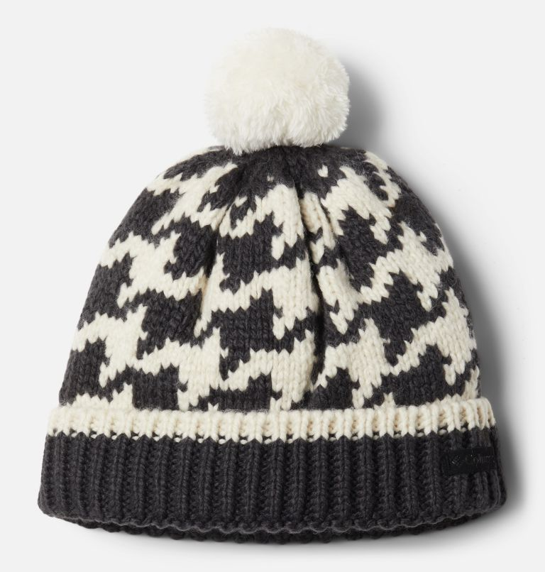 Fawn Hike™ Youth Pom Pom Beanie | 191 | O/S Tuque à pompon Fawn Hike™ pour enfant, Chalk Houndstooth, Shark, front