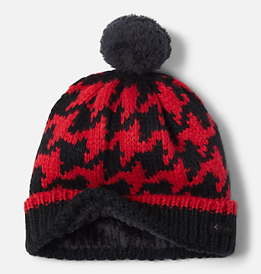 Kids' Fawn Hike™ Pom Pom Beanie Fawn Hike™ Youth Pom Pom Beanie | 191 | O/S, Red Lily, Black, a1