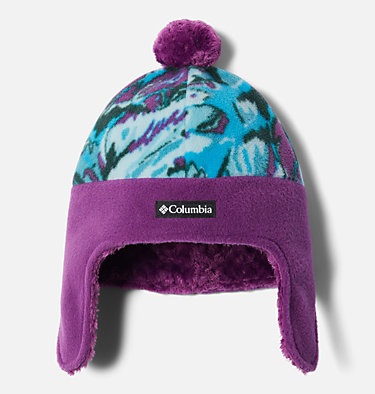 Kids' Frosty Trail™ Earflap Beanie Frosty Trail™ Youth Earflap Beanie | 010 | L/XL, Plum Leafscape, Plum, front