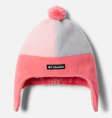 Kids' Frosty Trail™ Earflap Beanie Frosty Trail™ Youth Earflap Beanie | 010 | L/XL, Bright Geranium, Pink Orchid, front
