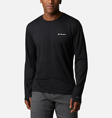 Men's Tech Trail™ Long Sleeve Crew II Shirt Tech Trail™ Long Sleeve Crew II | 432 | XL, Black, front