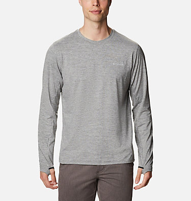 Men's Tech Trail™ Long Sleeve Crew II Shirt Tech Trail™ Long Sleeve Crew II | 432 | XL, City Grey Heather, front