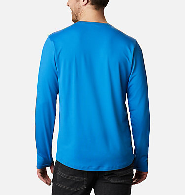 Men's Tech Trail™ Long Sleeve Crew II Shirt Tech Trail™ Long Sleeve Crew II | 432 | XL, Bright Indigo, back