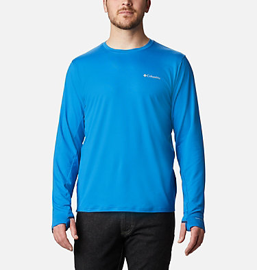 Men's Tech Trail™ Long Sleeve Crew II Shirt Tech Trail™ Long Sleeve Crew II | 432 | XL, Bright Indigo, front