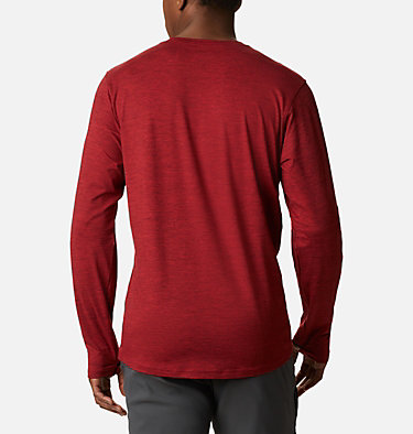 Men's Tech Trail™ Long Sleeve Crew II Shirt Tech Trail™ Long Sleeve Crew II | 432 | XL, Mountain Red Heather, back