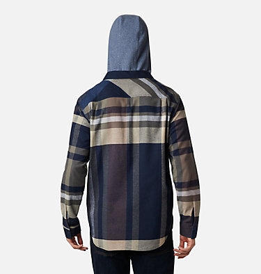 Men's Flare Gun™ Stretch Flannel Hoodie Flare Gun™ Stretch Flannel Hoodie | 010 | M, Collegiate Navy Tartan Plaid, back