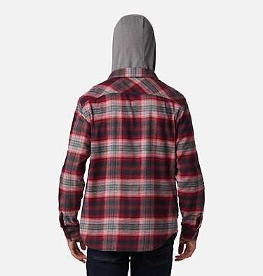 Men's Flare Gun™ Stretch Flannel Hoodie Flare Gun™ Stretch Flannel Hoodie | 010 | M, Mountain Red Ombre Plaid, back