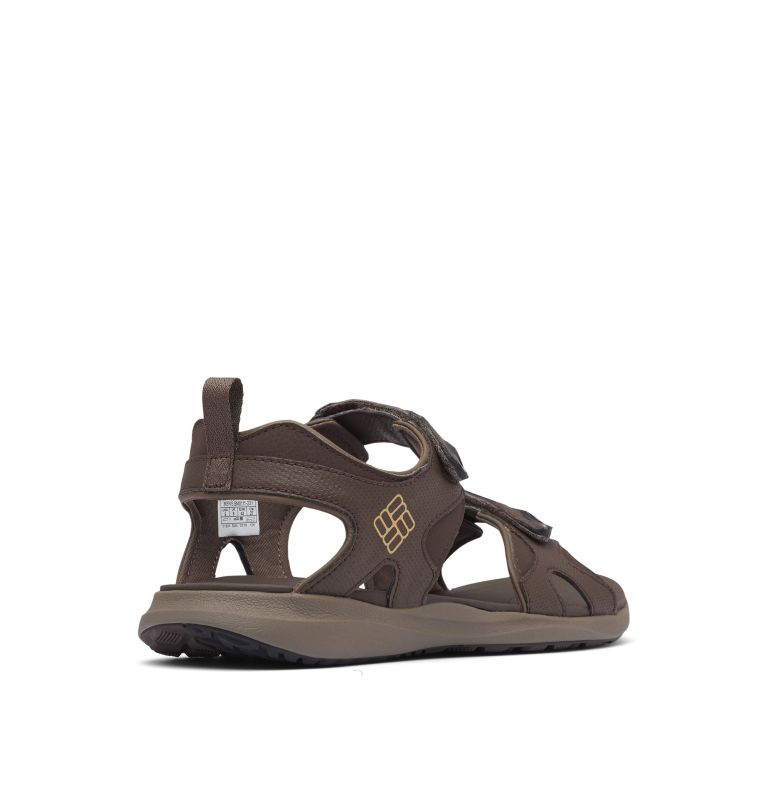 COLUMBIA™ 2 STRAP | 231 | 9 Men's Columbia™ Ankle Strap Sandal, Cordovan, Curry, 3/4 back