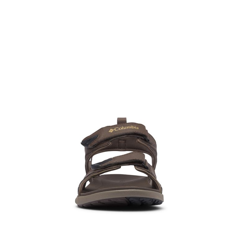 COLUMBIA™ 2 STRAP | 231 | 9 Men's Columbia™ Ankle Strap Sandal, Cordovan, Curry, toe