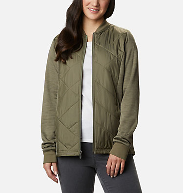 Manteau hybride à fermeture éclair Piney Ridge™ pour femme Piney Ridge™ Hybrid FZ | 397 | L, Stone Green, front