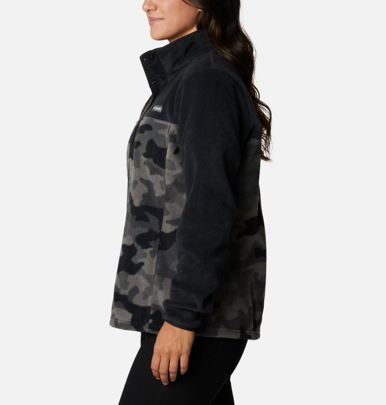 Benton Springs™ Printed 1/2 Snap | 010 | XS Women's Benton Springs™ Printed Half Snap Fleece Pullover, Black Camo, a1