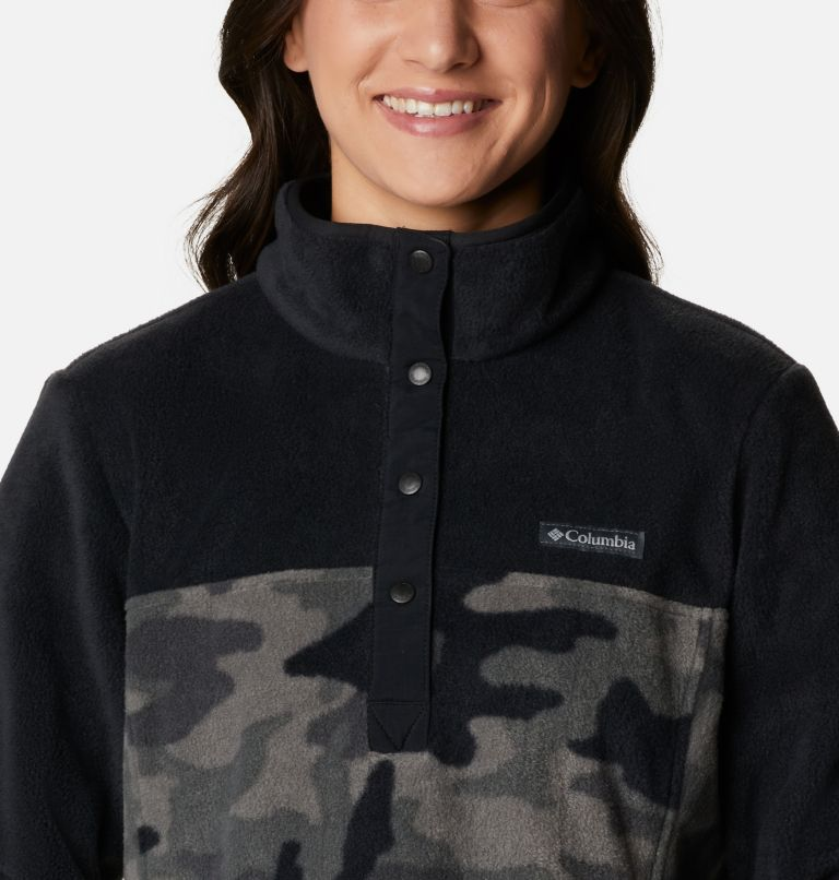 Benton Springs™ Printed 1/2 Snap | 010 | XS Women's Benton Springs™ Printed Half Snap Fleece Pullover, Black Camo, a2