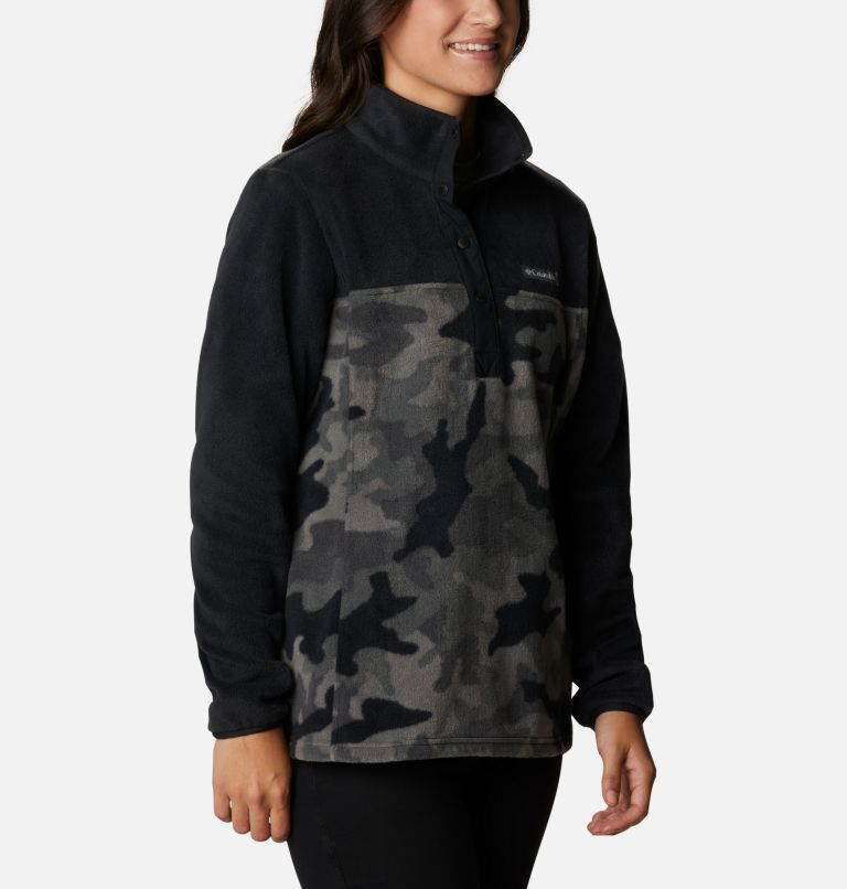 Benton Springs™ Printed 1/2 Snap | 010 | M Women's Benton Springs™ Printed Half Snap Fleece Pullover, Black Camo, a3