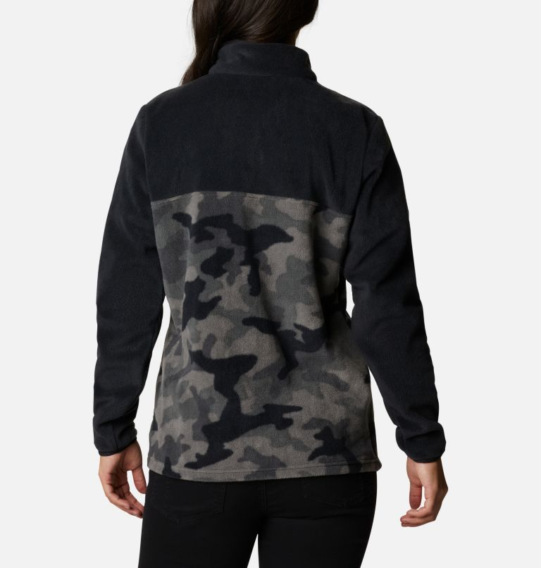 Benton Springs™ Printed 1/2 Snap | 010 | XS Women's Benton Springs™ Printed Half Snap Fleece Pullover, Black Camo, back