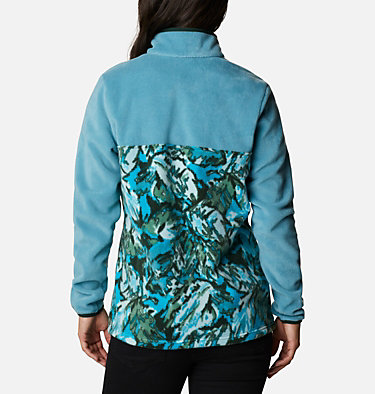 Women's Benton Springs™ Printed Half Snap Fleece Pullover Benton Springs™ Printed 1/2 Snap | 010 | L, Canyon Blue, Spruce Leafscape Print, back