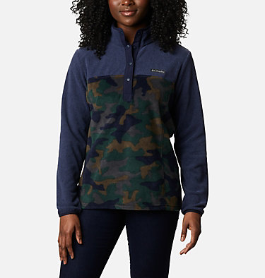 Women's Benton Springs™ Printed Half Snap Fleece Pullover Benton Springs™ Printed 1/2 Snap | 010 | L, Dark Nocturnal Camo, front