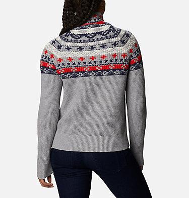 Women's Pine Street™ Jacquard Pullover Shirt Pine Street™ Jacquard Pullover | 191 | L, Tradewinds Grey Heather Jacquard, back