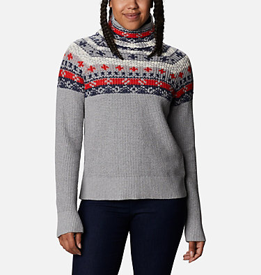 Women's Pine Street™ Jacquard Pullover Shirt Pine Street™ Jacquard Pullover | 191 | L, Tradewinds Grey Heather Jacquard, front