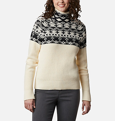Women's Pine Street™ Jacquard Pullover Shirt Pine Street™ Jacquard Pullover | 191 | L, Chalk Jacquard, front