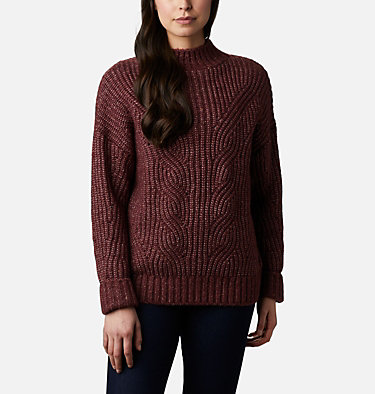 Chandail Pine Street™ pour femme Pine Street™ Sweater | 191 | L, Malbec Heather, front