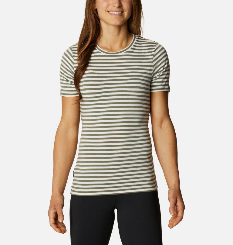 Women's Essential Elements™ Striped Short Sleeve Shirt Women's Essential Elements™ Striped Short Sleeve Shirt, front